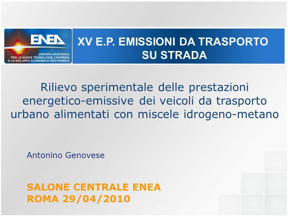 XV E.P. EMISSIONI DA TRASPORTO