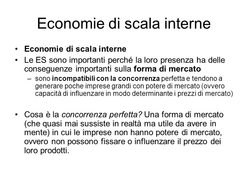 Economie di scala interne