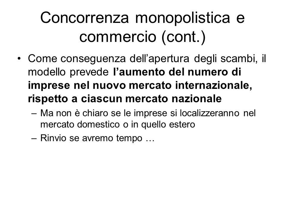 Concorrenza monopolistica e commercio (cont.)