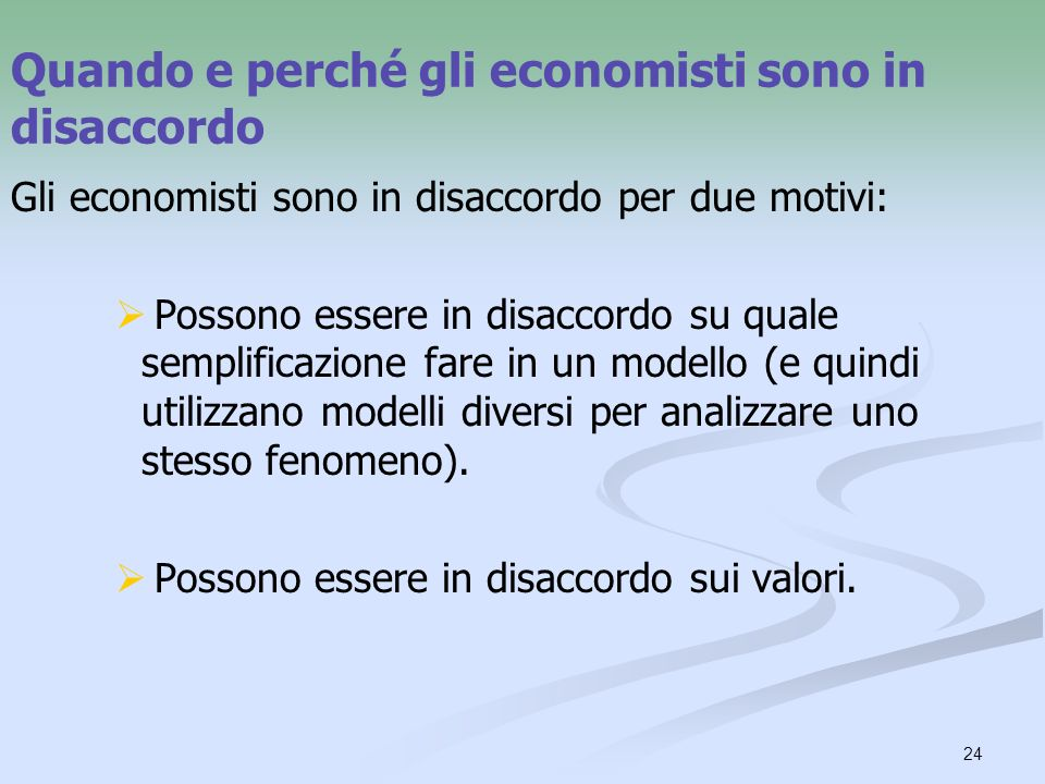 Quando e perché gli economisti sono in disaccordo
