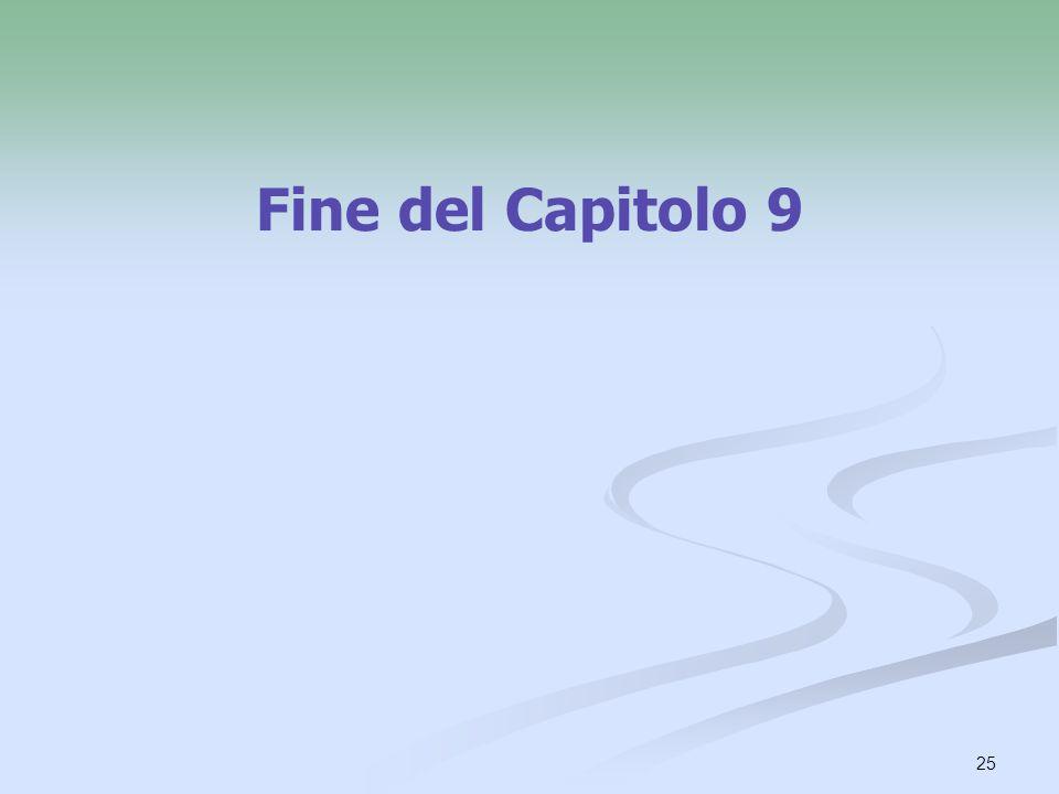 Fine del Capitolo 9