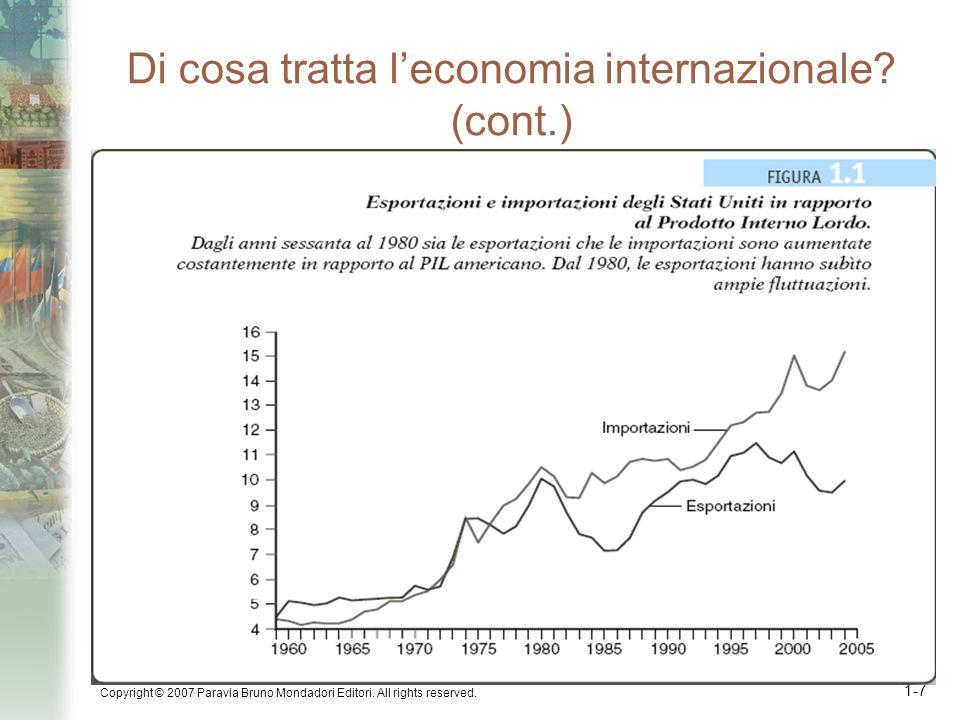 Di cosa tratta l'economia internazionale (cont.)