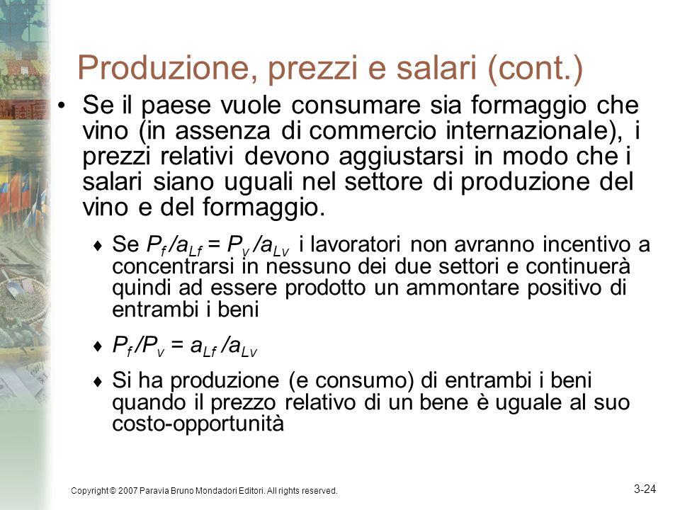 Produzione, prezzi e salari (cont.)