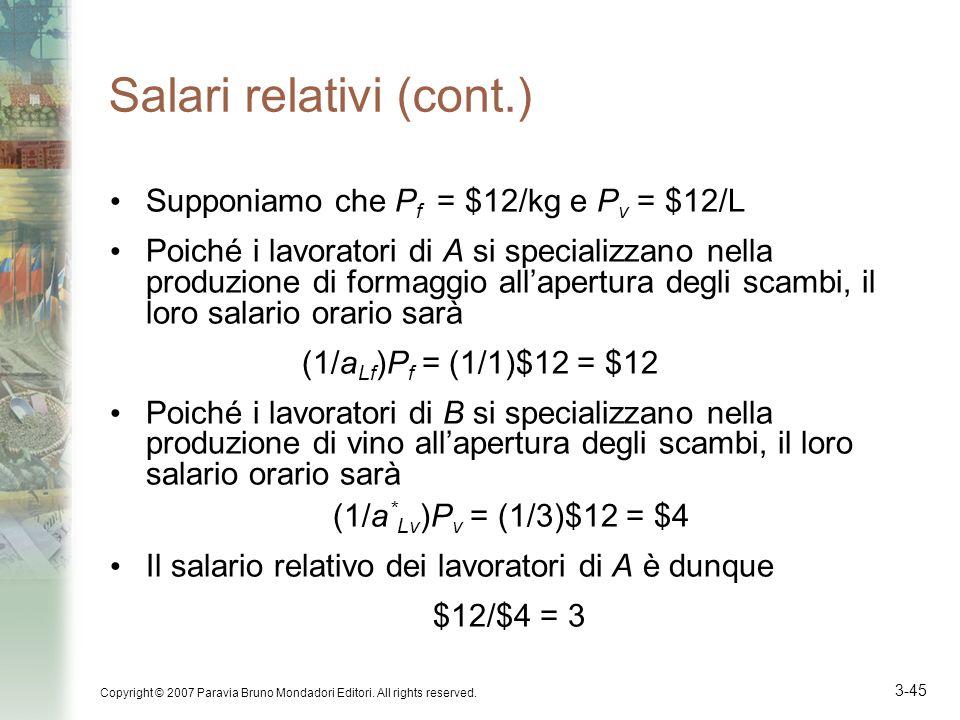 Salari relativi (cont.)