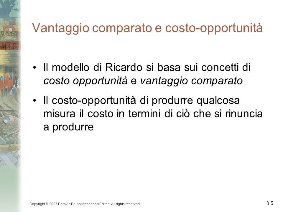 Vantaggio comparato e costo-opportunità