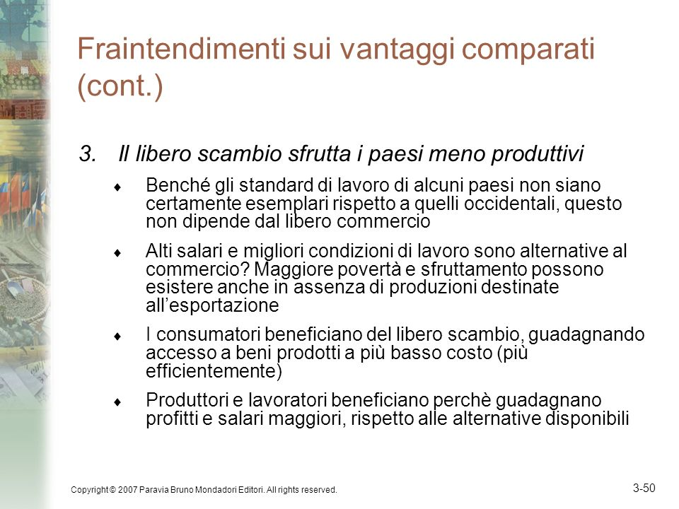Fraintendimenti sui vantaggi comparati (cont.)