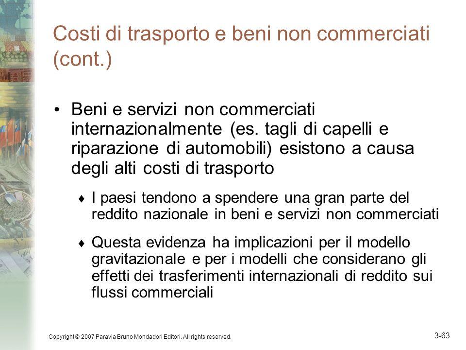 Costi di trasporto e beni non commerciati (cont.)