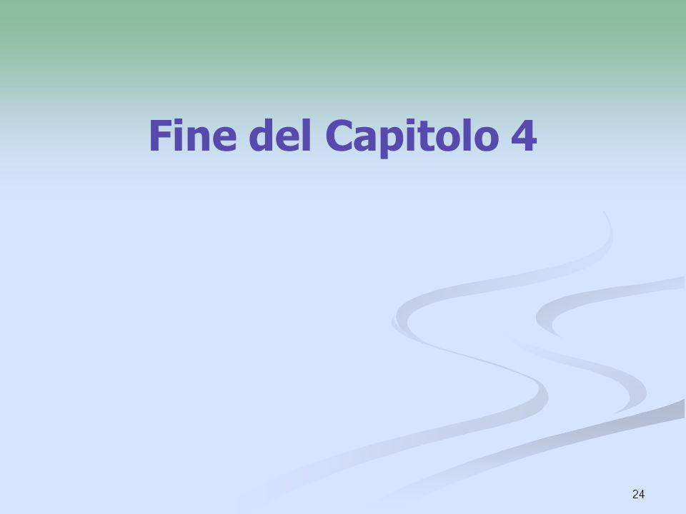 Fine del Capitolo 4