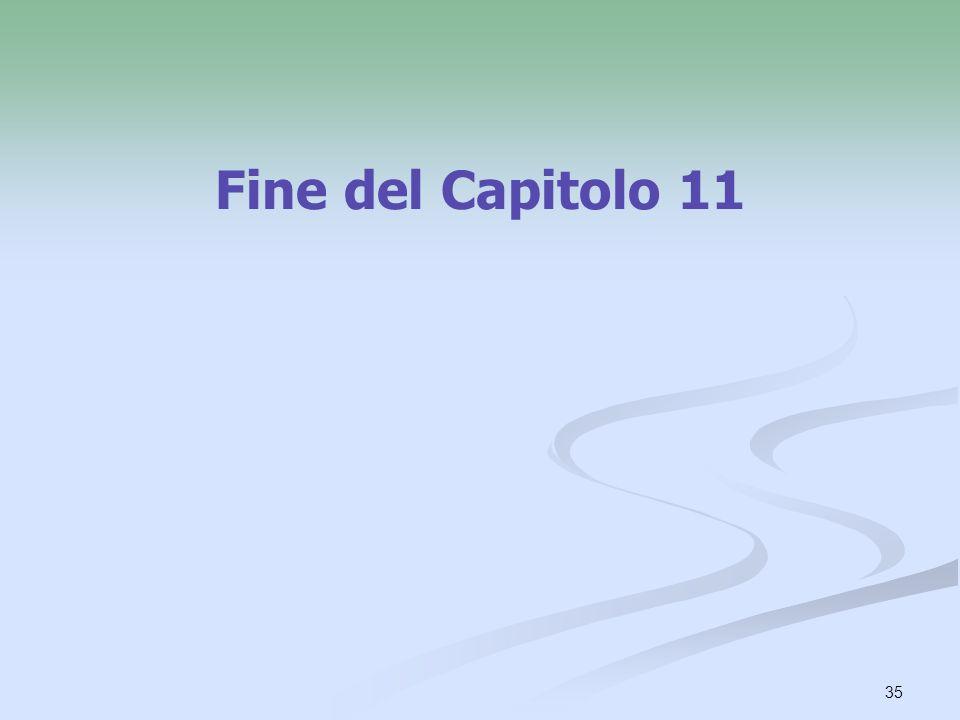 Fine del Capitolo 11