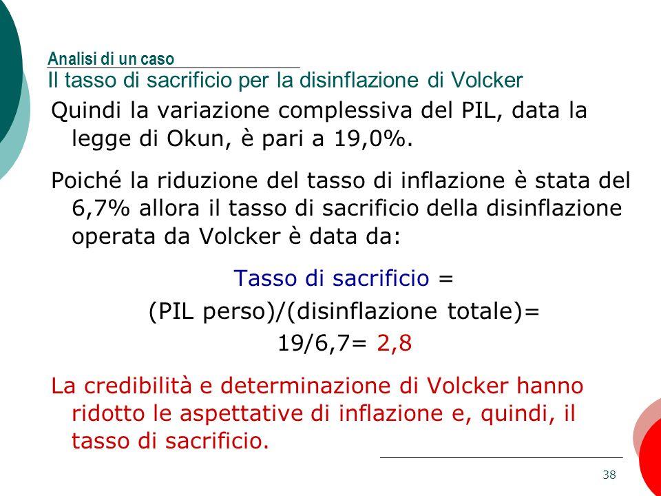 (PIL perso)/(disinflazione totale)=