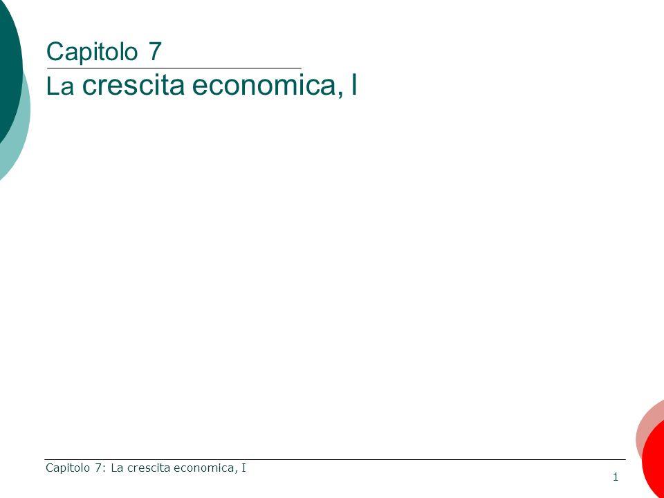Capitolo 7 La crescita economica, I