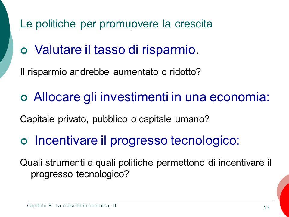 Le politiche per promuovere la crescita