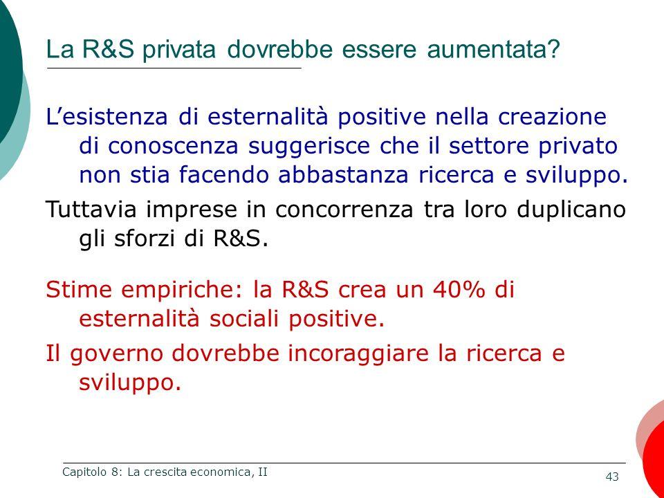 La R&S privata dovrebbe essere aumentata