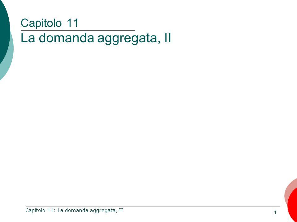 Capitolo 11 La domanda aggregata, II