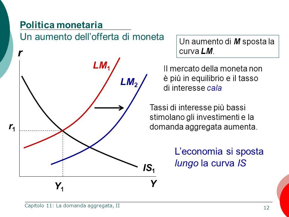 Politica monetaria Un aumento dell'offerta di moneta