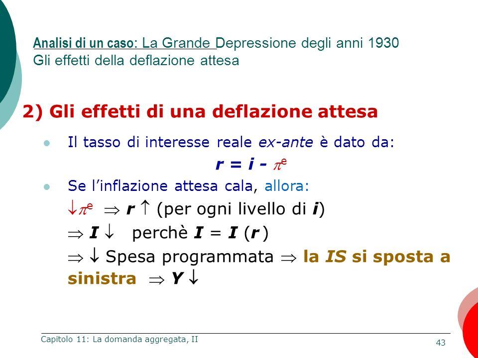 2) Gli effetti di una deflazione attesa