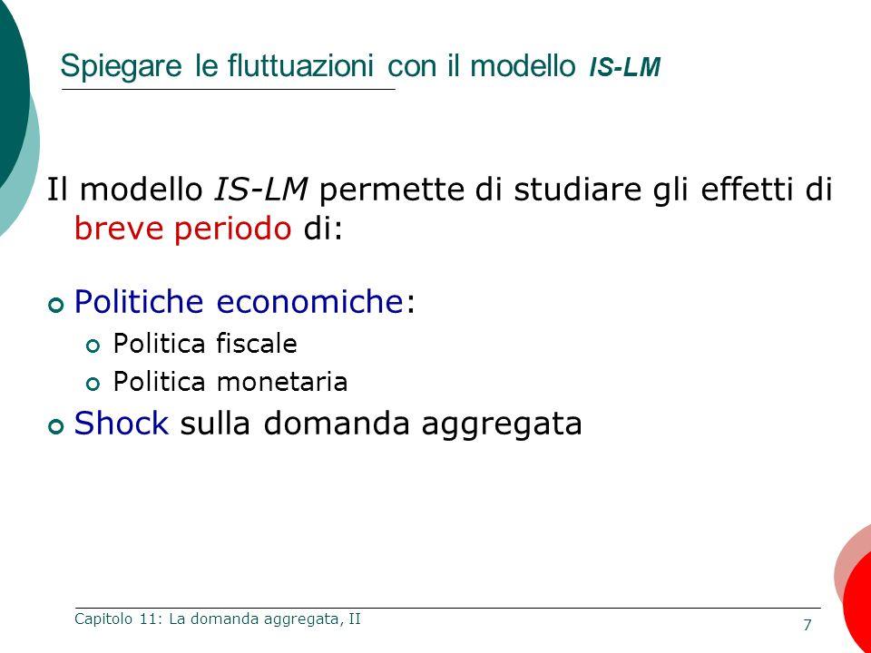 Spiegare le fluttuazioni con il modello IS-LM