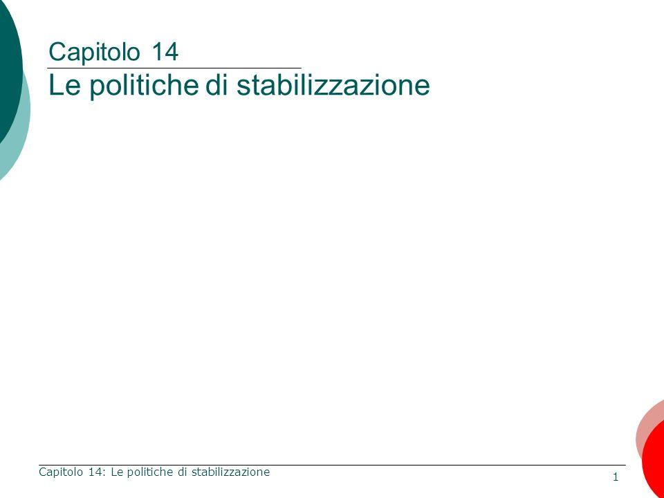 Capitolo 14 Le politiche di stabilizzazione