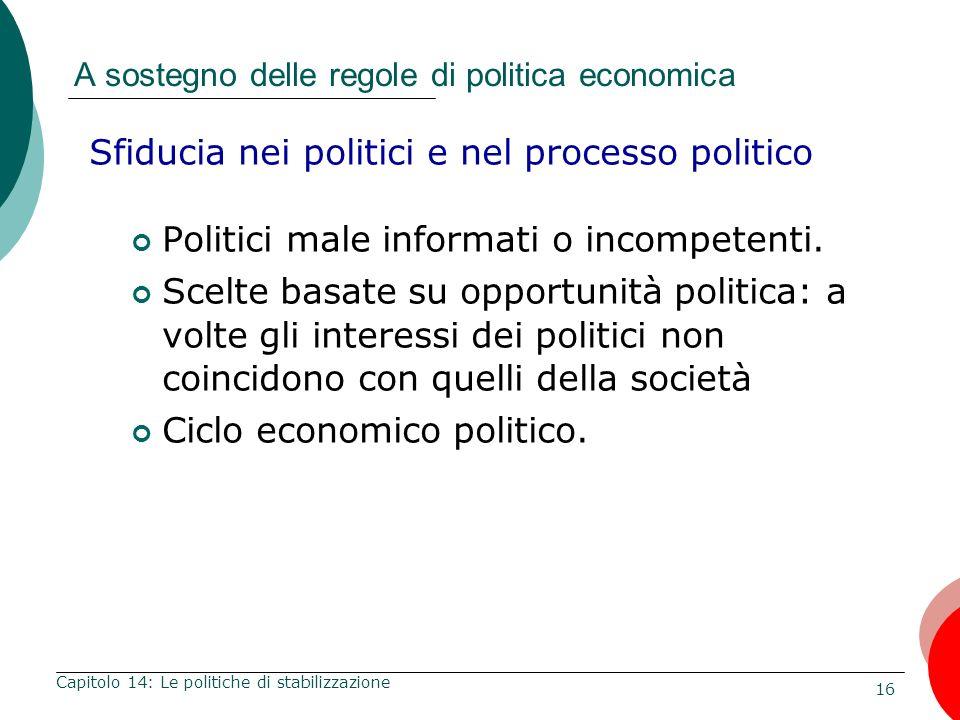 A sostegno delle regole di politica economica