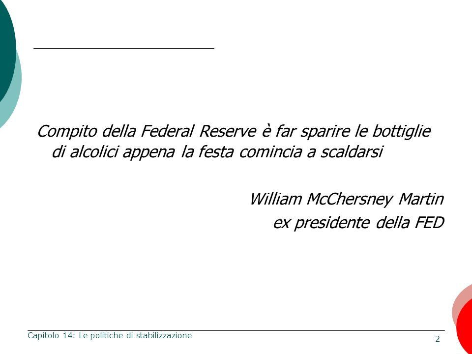 William McChersney Martin ex presidente della FED