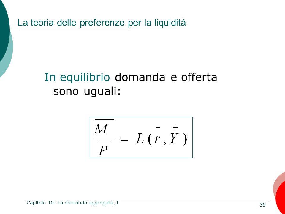 La teoria delle preferenze per la liquidità