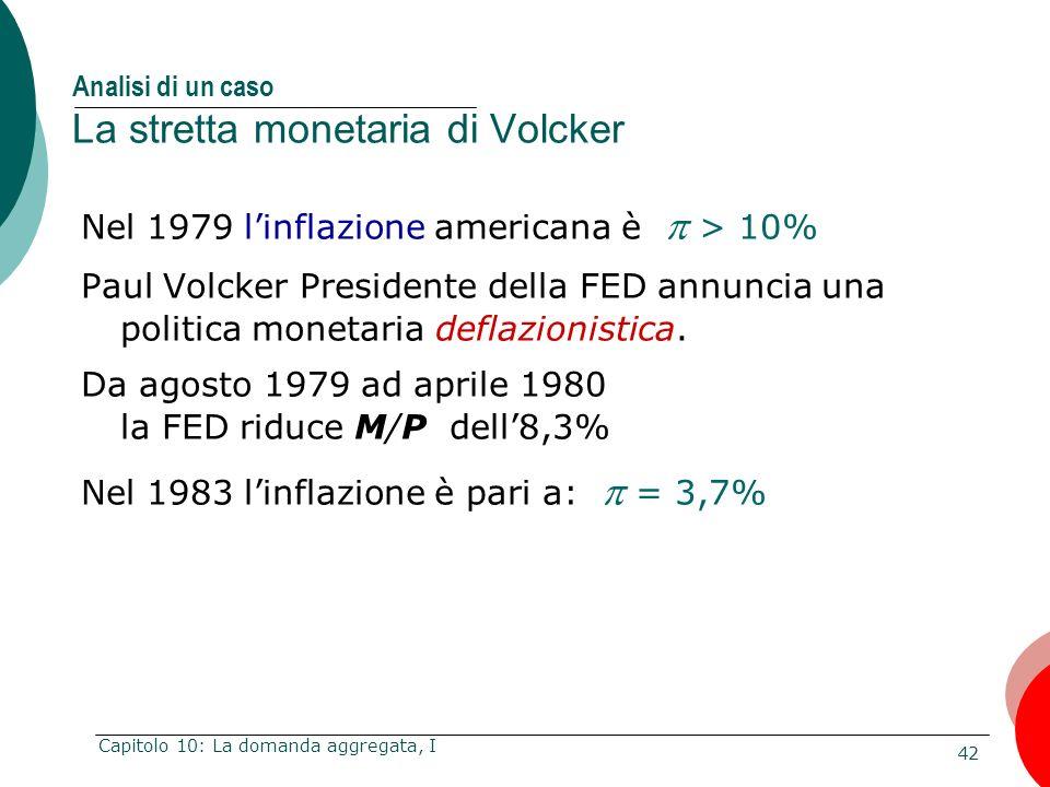 Analisi di un caso La stretta monetaria di Volcker
