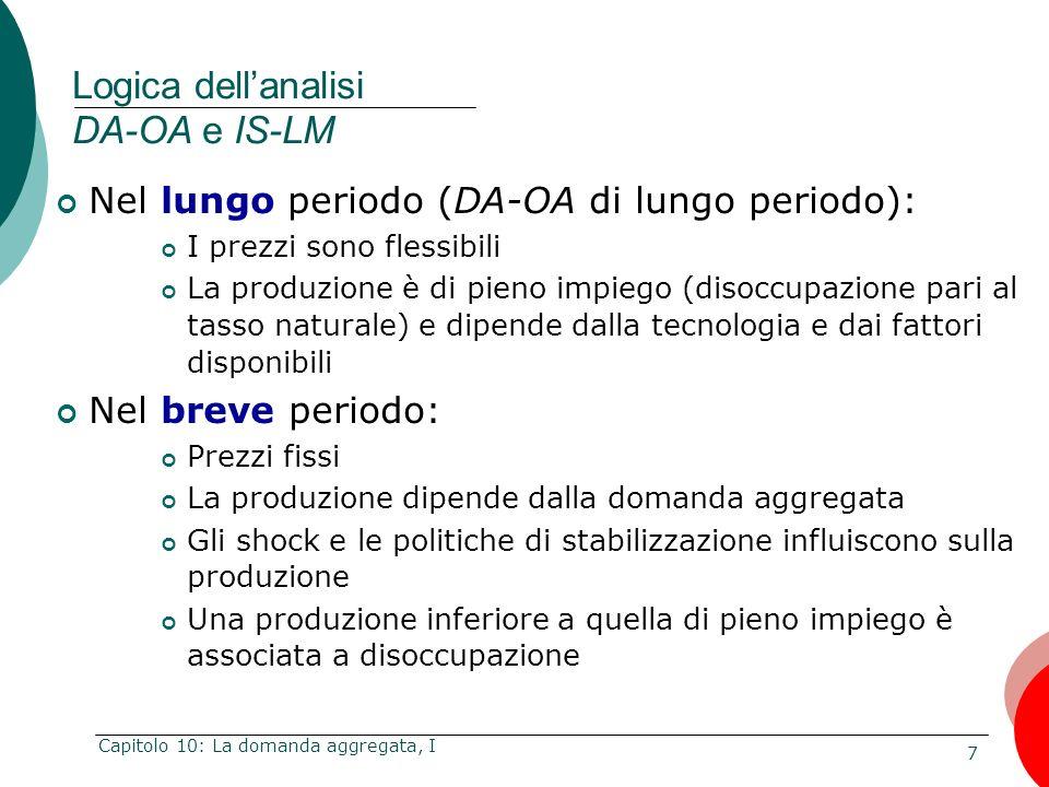 Logica dell'analisi DA-OA e IS-LM
