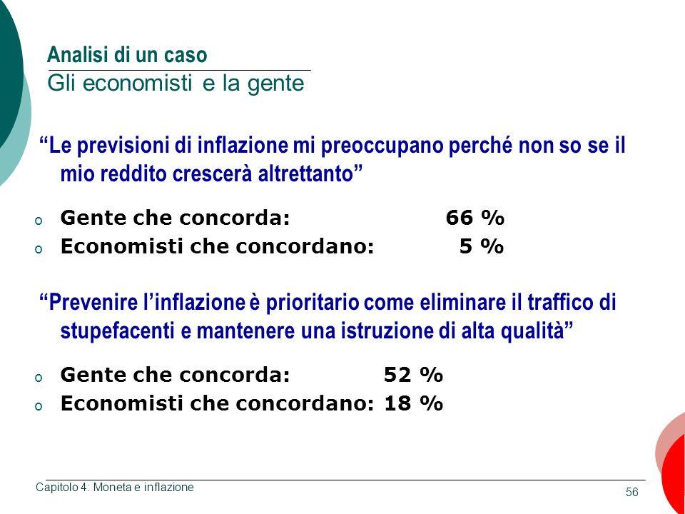 Analisi di un caso Gli economisti e la gente