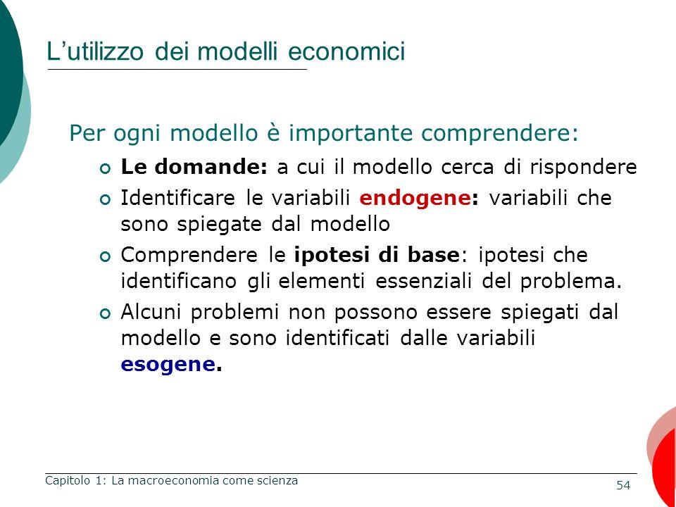 L'utilizzo dei modelli economici