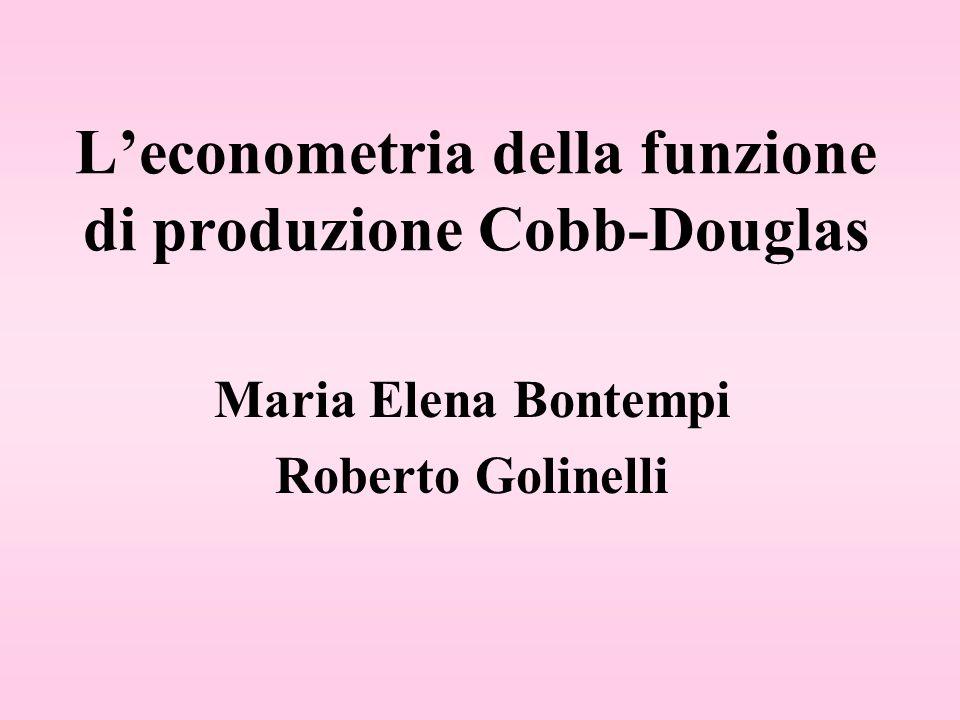 L'econometria della funzione di produzione Cobb-Douglas