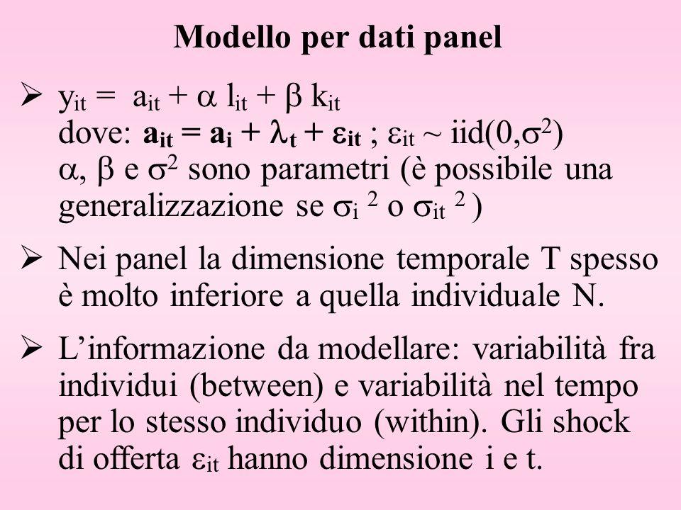 Modello per dati panel