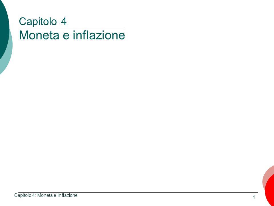 Capitolo 4 Moneta e inflazione