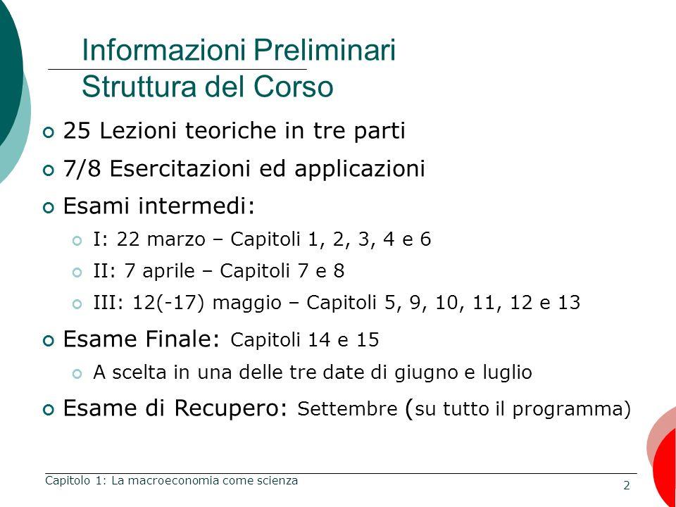 Informazioni Preliminari Struttura del Corso