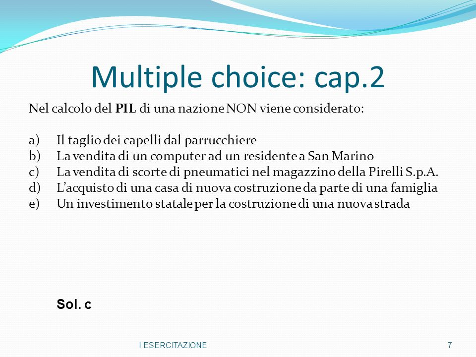Multiple choice: cap.2
