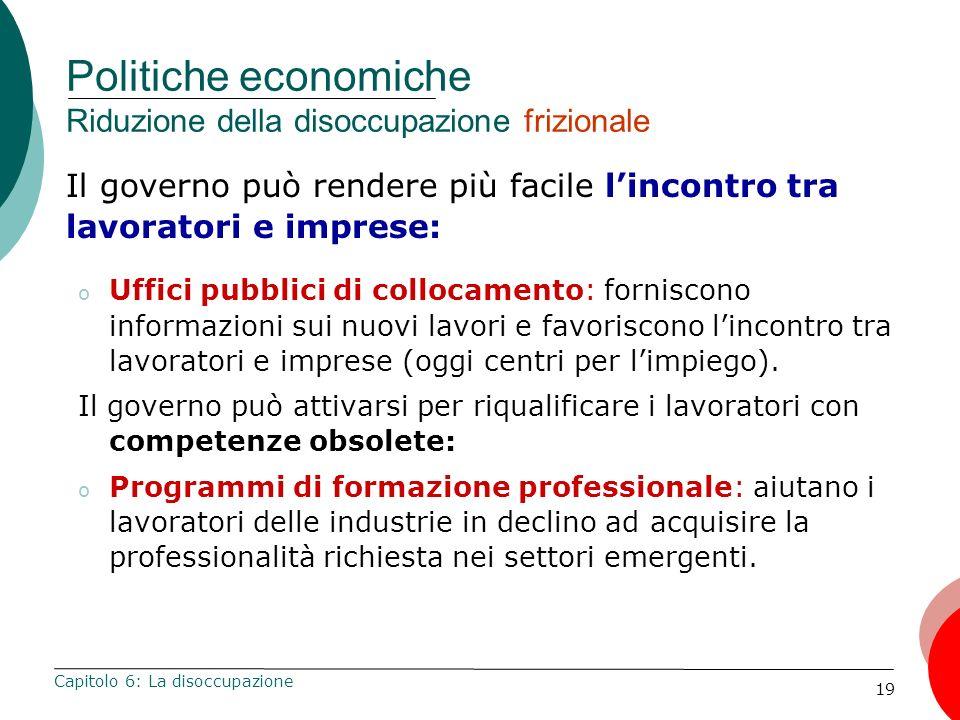 Politiche economiche Riduzione della disoccupazione frizionale
