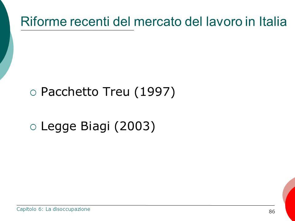 Riforme recenti del mercato del lavoro in Italia