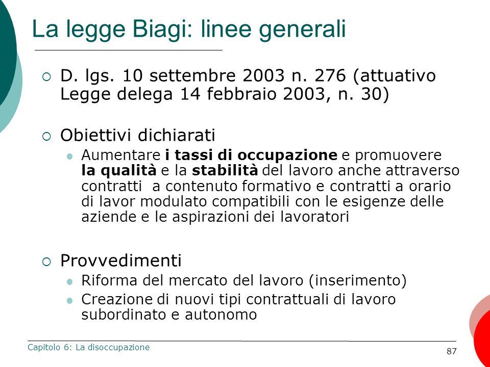 La legge Biagi: linee generali