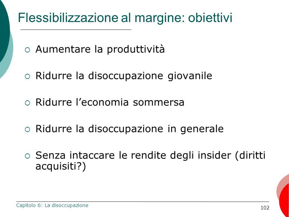 Flessibilizzazione al margine: obiettivi