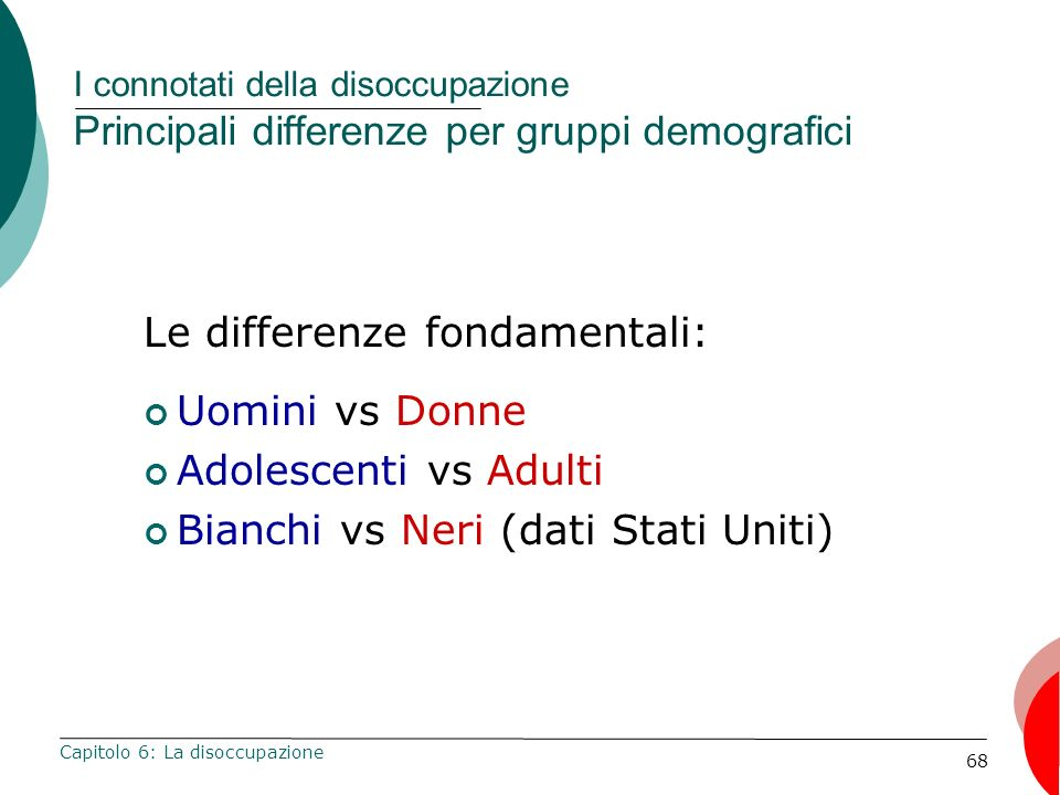 Le differenze fondamentali: Uomini vs Donne Adolescenti vs Adulti