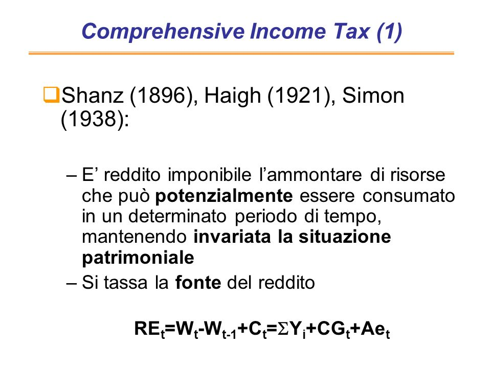 Comprehensive Income Tax (1)