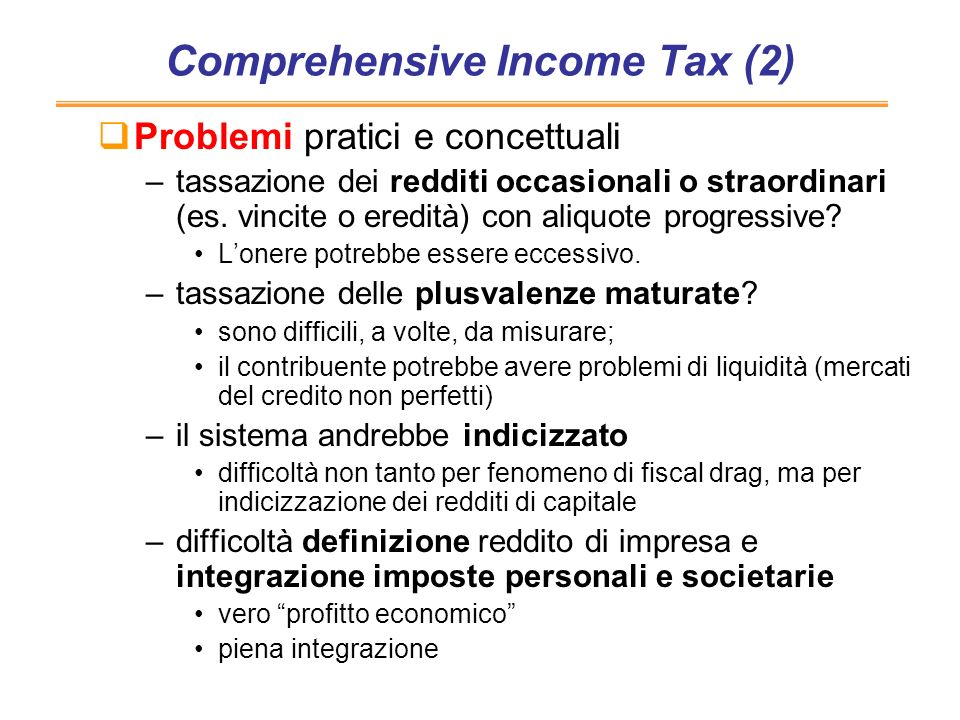 Comprehensive Income Tax (2)