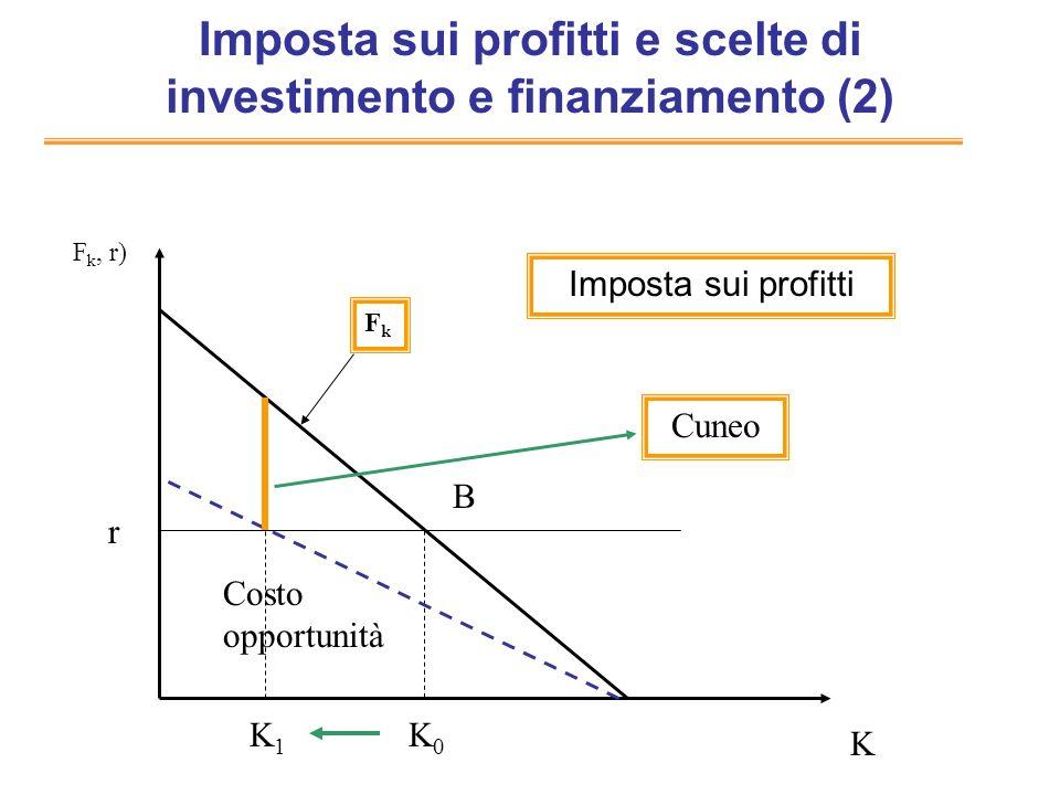 Imposta sui profitti e scelte di investimento e finanziamento (2)