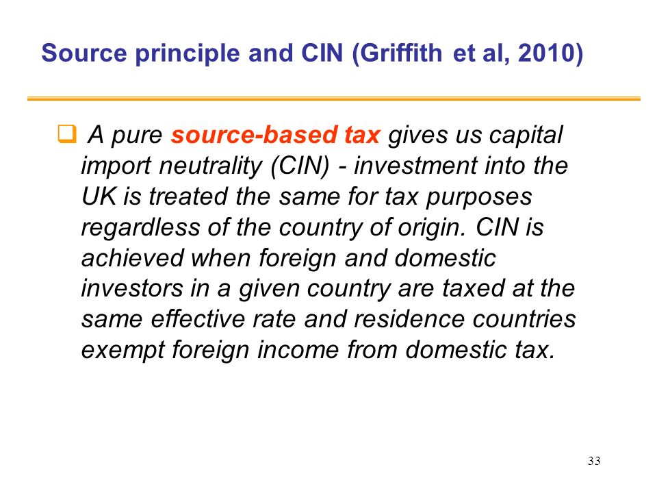 Source principle and CIN (Griffith et al, 2010)