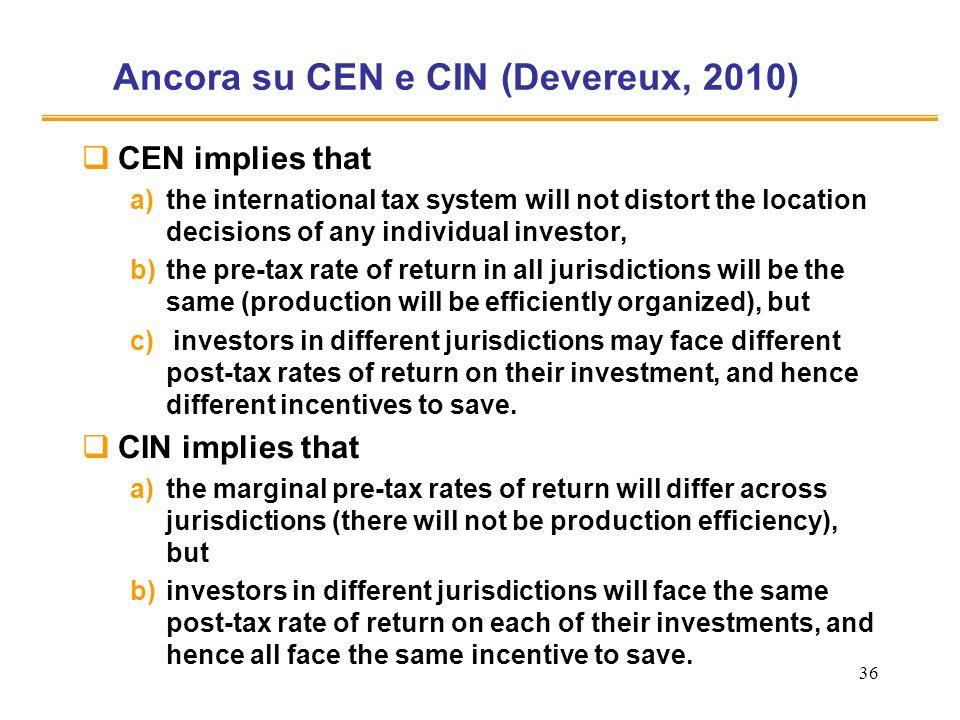 Ancora su CEN e CIN (Devereux, 2010)
