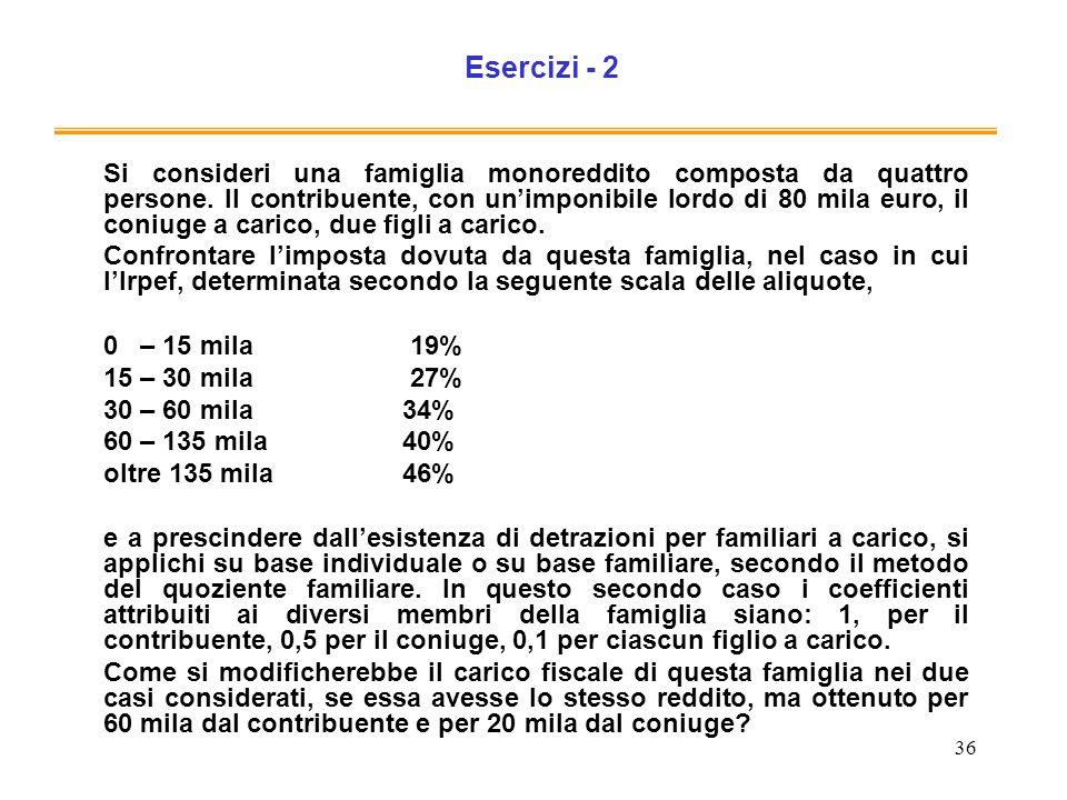 Esercizi - 2