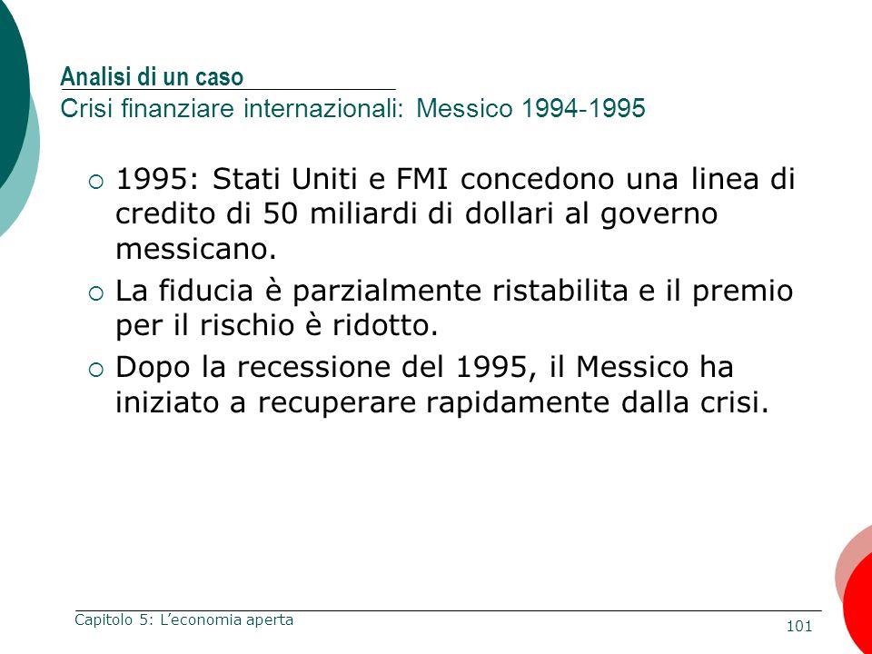 Analisi di un caso Crisi finanziare internazionali: Messico 1994-1995