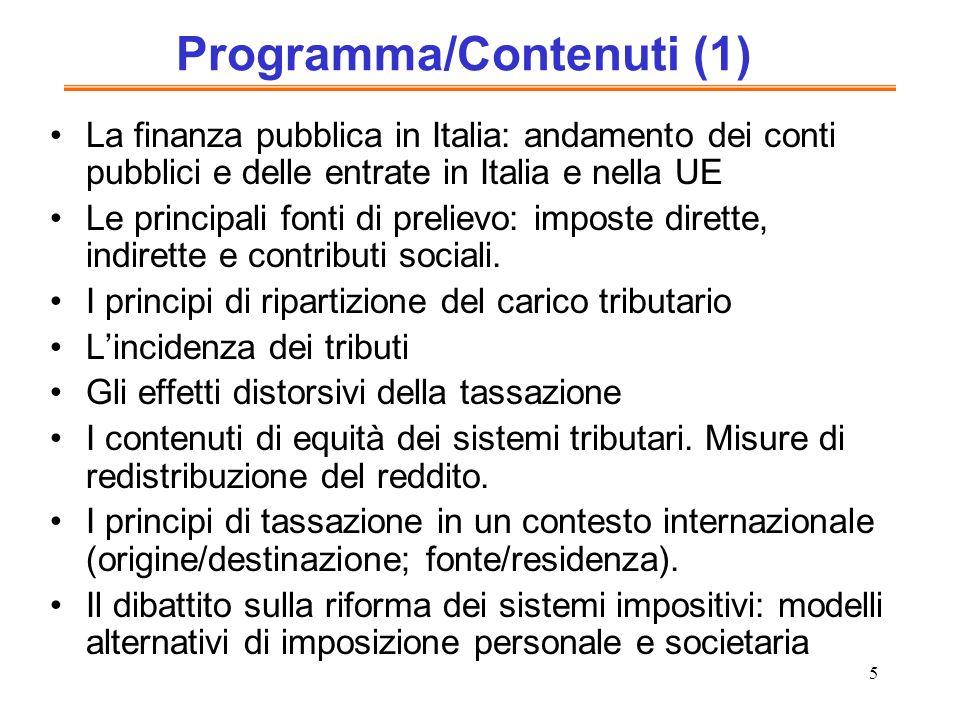 Programma/Contenuti (1)