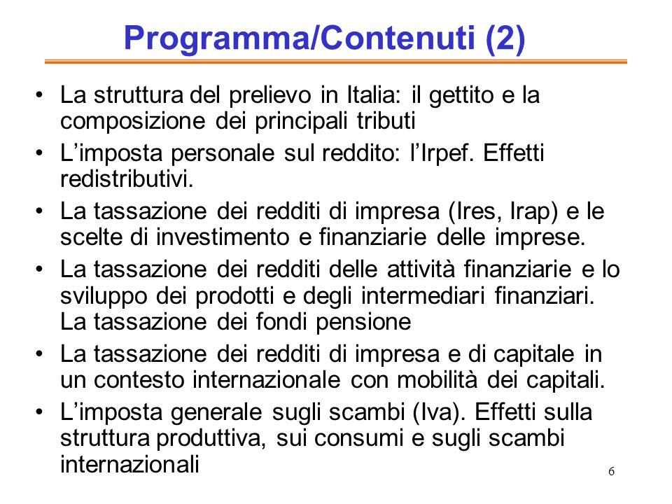 Programma/Contenuti (2)