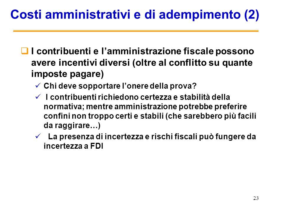 Costi amministrativi e di adempimento (2)