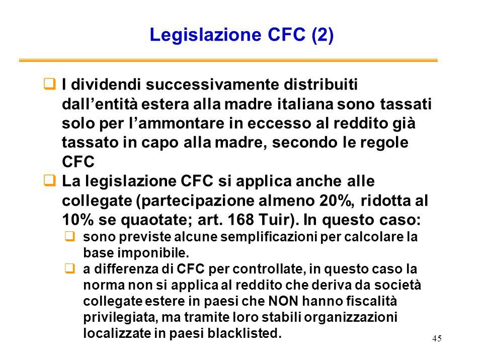 Legislazione CFC (2)